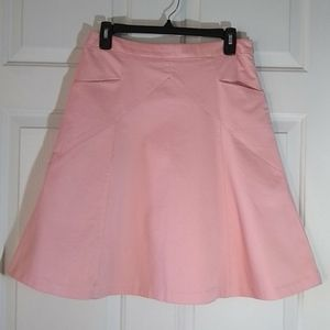 Express pink Aline skirt with pockets